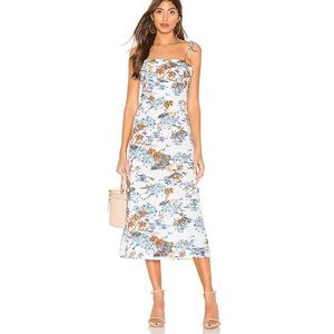 Free People Beach Party Midi Dress in Neutral Comb